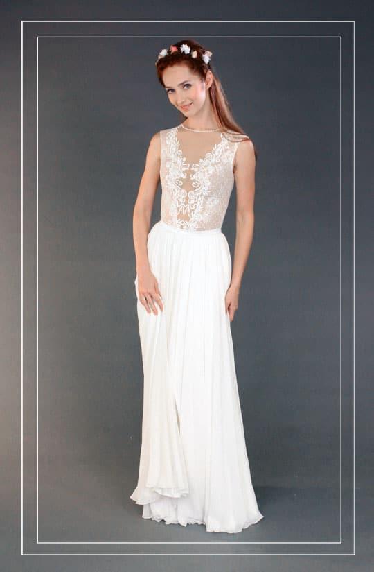 תמונה של שמלת כלה וינטאג בעיצוב עכשיוי