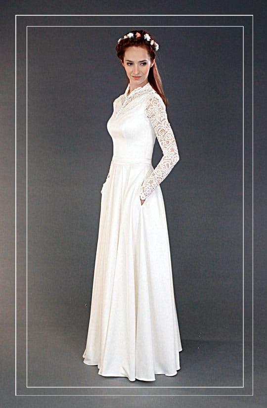 תמונה של שמלות כלה וינטאג בעיצוב מודרני של רינה בהיר