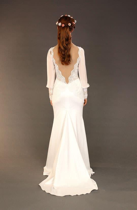 תמונה של שמלת כלה וינטאג של המעצבת רינה בהיר