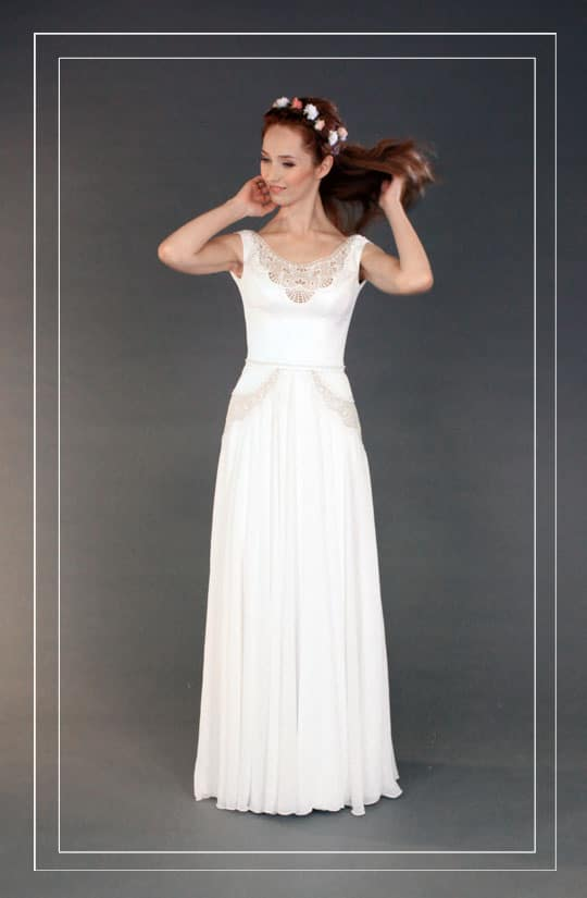 שמלת כלה וינטאג דנם מיוחד של רינה בהיר, עברו לגלריית תמונות