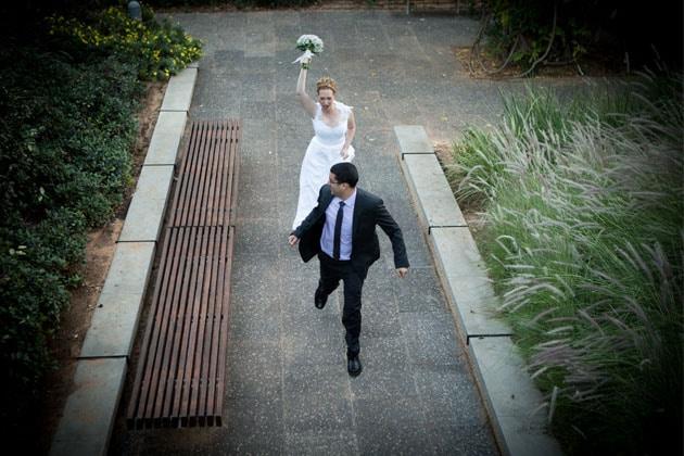 תמונה מתוך סיפור החתונה של נגה ועודד