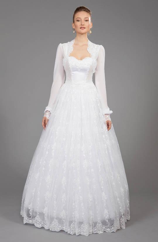 תמונה של שמלת כלה מותאמת לאישה דתיה