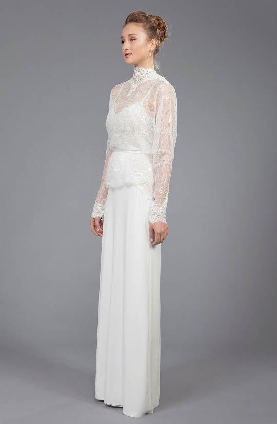 תמונה של שמלת כלה לדתיות רינה בהיר