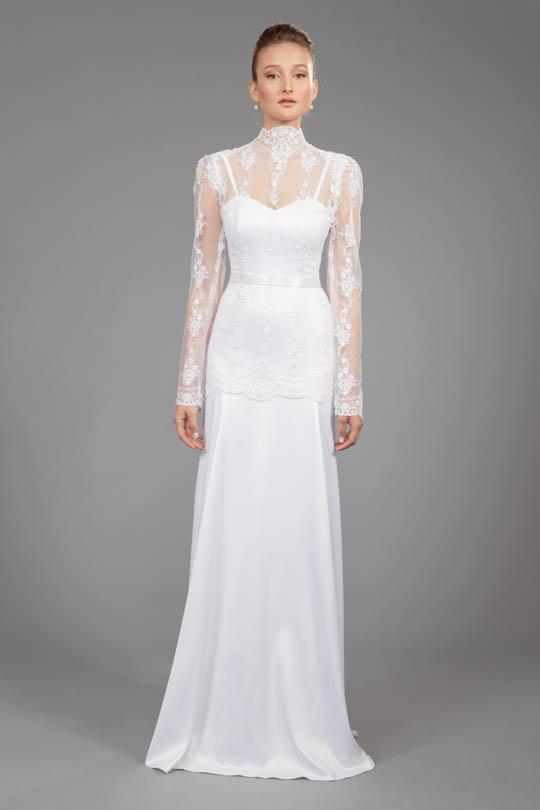 דגם מיוחד של שמלת כלה לדתיה 2018 רינה בהיר