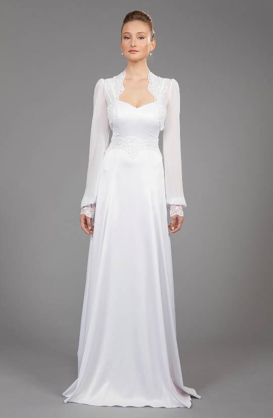 תמונה של שמלת כלה לאישה דתיה