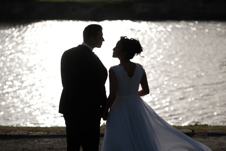 תמונה של רגע רומנטי ביום הצילום של לימור ואיציק