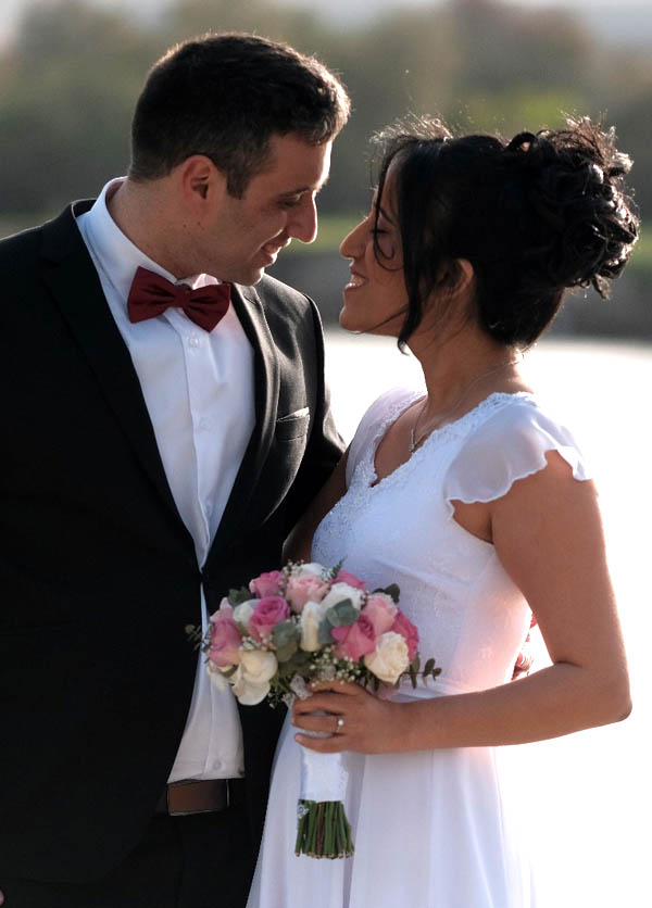 לימור ואיציק כהן ביום החתונה