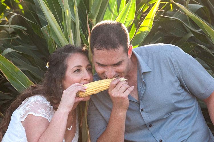 תמונה של ליטל ואלעד זבולוני בחתונה