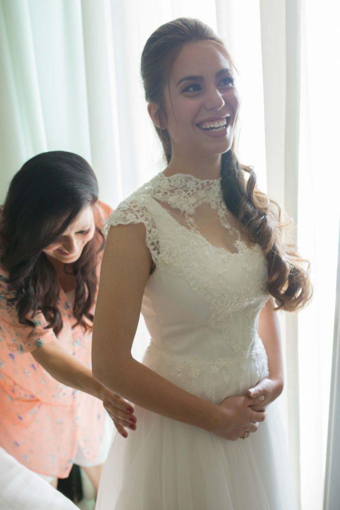 תמונה של חן רגע לפני החתונה