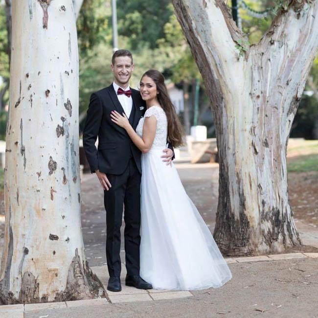 תמונה עטרת ודור ביום הצילומים, רגע לפני החתונה
