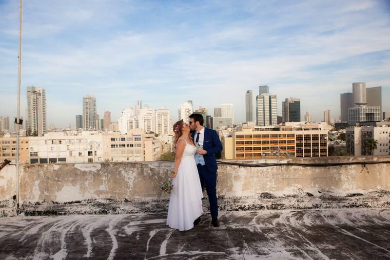תמונה, יעל ואסף רגב, רגע רומנטי ביום הצילום